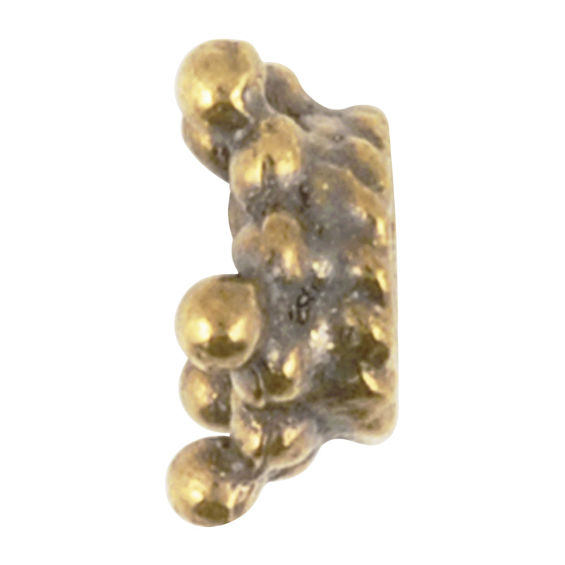 Casting Beads-8mm Dotted Star Bead Cap-Antique Bronze