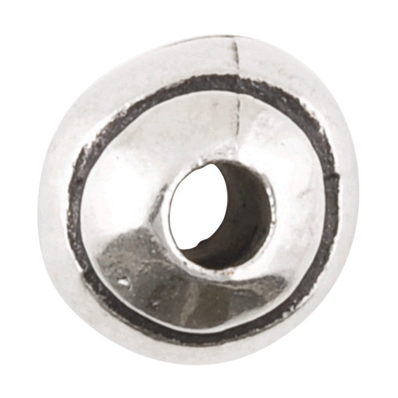 Casting Beads-9mm Round Line with Detail-Antique Silver