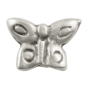 Casting Beads Wholesale-14x13mm Tiny Butterfly-Antique Silver-Quantity 25