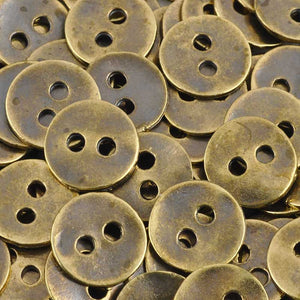 Casting Button-12mm Vintage-Antique Bronze