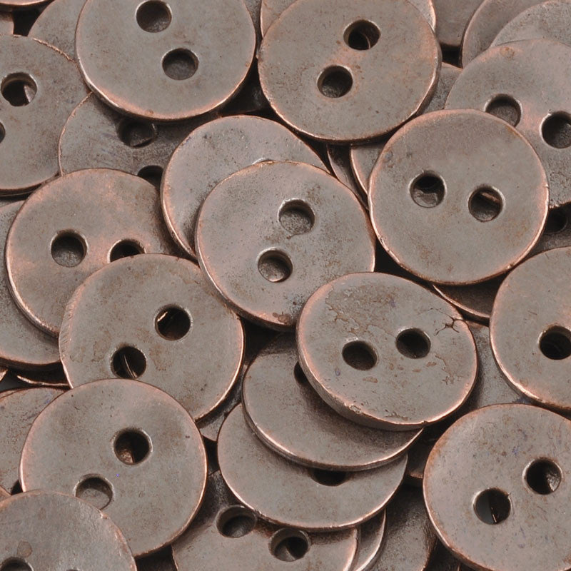 Casting Button-12mm Vintage-Antique Copper