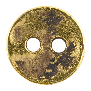 Casting Button-12mm Vintage-Antique Gold