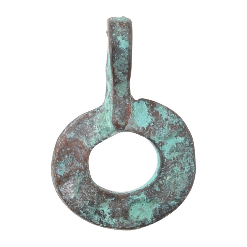 Casting Charm-11x16mm Ring-Green Patina