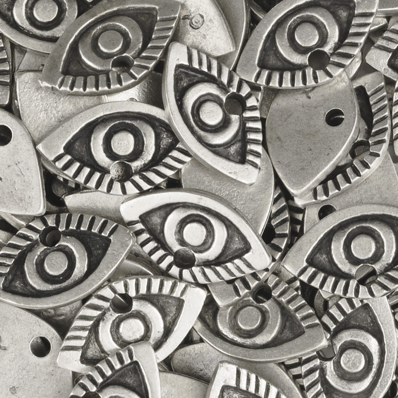 Casting Charm-11x20mm Eye-Antique Silver-Quantity 1