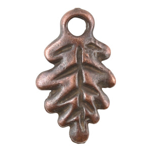 Casting Charm-12x20mm Fall Leaf-Antique Copper