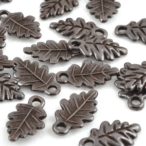 Casting Charm-12x20mm Fall Leaf-Brown Oxide