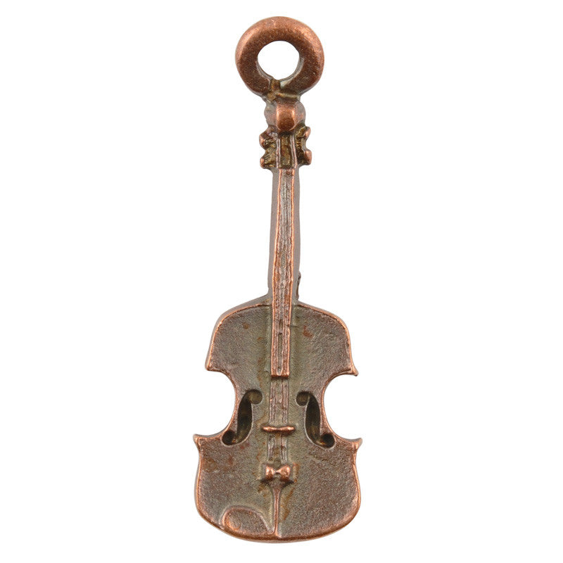 Casting Charm-12x39mm Violin-Antique Copper