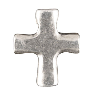 Casting Charm-14x17mm Cross-Antique Silver