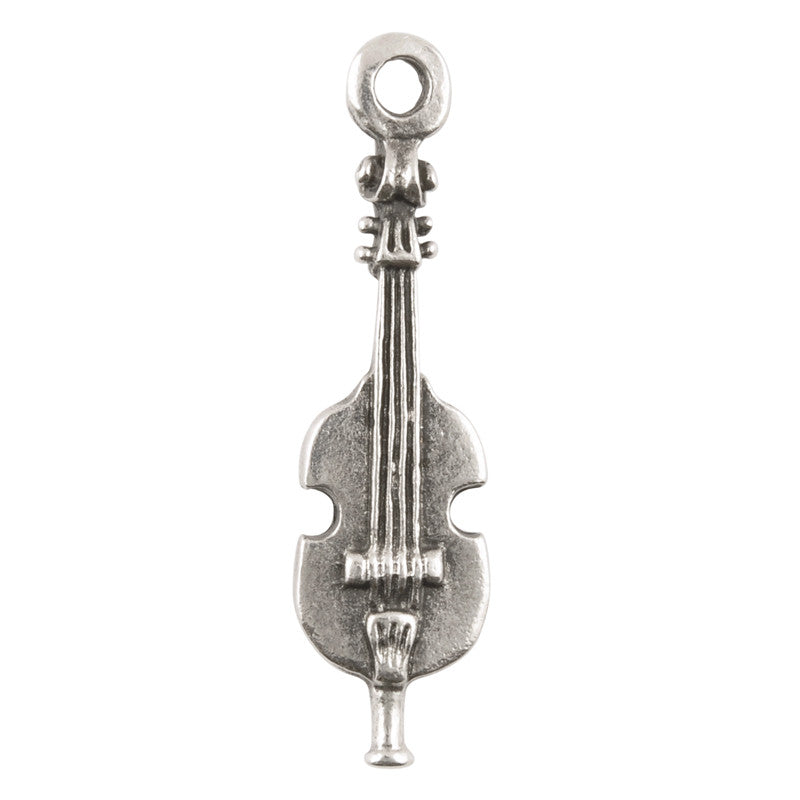 Casting Charm-13x43mm Strings-Antique Silver