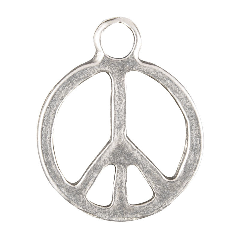 Casting Charm-15x18mm Peace-Antique Silver