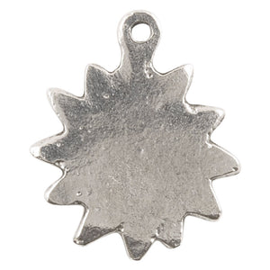 Casting Charm-16x20mm Sun-Antique Silver