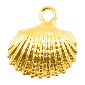 Casting Charm-20mm Cockle Shell-Gold