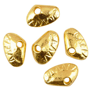Casting Charm-7x11mm Tiny Clam-Large-Gold