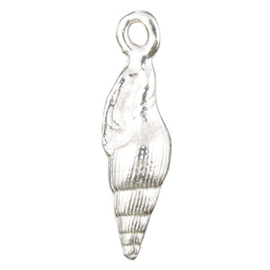 Casting Charm-8x25mm Conical Shell-Silver