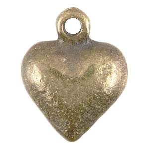 Casting Charm-9x11mm Heart-Antique Bronze