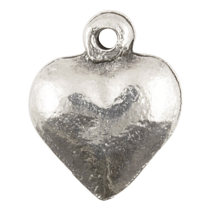 Casting Charm-9x11mm Heart-Antique Silver-Quantity 1