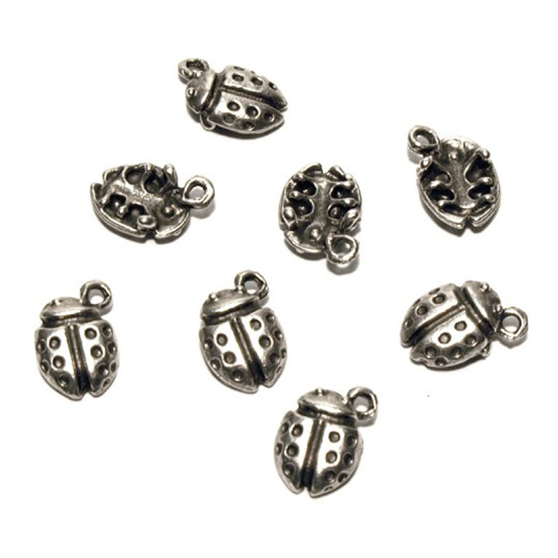 Casting Charm-9x13mm Ladybug-Antique Silver