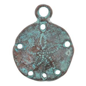 Casting Charm-Beach Mix-Green Patina-Quantity 5