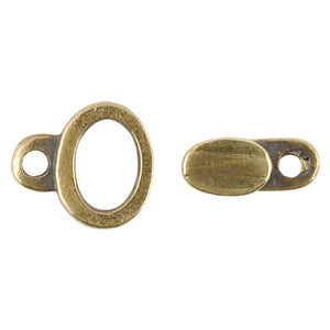 Casting Clasp-5x12mm Hook and 11x12mm Eye-Antique Bronze