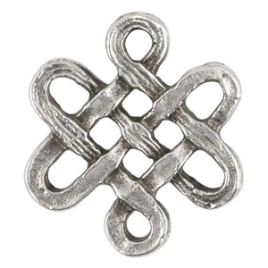 Casting Connector-15x27mm Endless Knot-Antique Silver