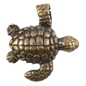 Casting Pendant-20x22mm Swim Turtle-Antique Bronze