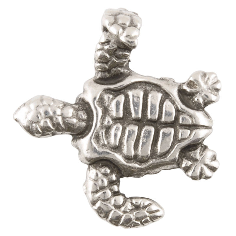 Casting Pendant-20x22mm Swim Turtle-Antique Silver