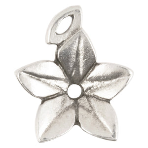 Casting Pendant-20x23mm Drop Flower-Antique Silver