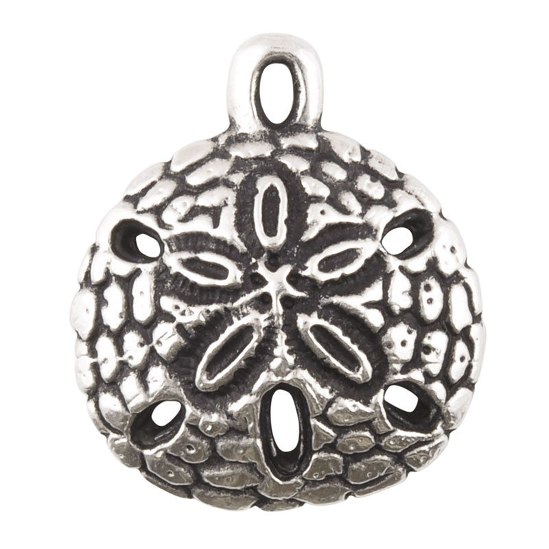 Casting Pendant-20x23mm Sand Dollar-Antique Silver