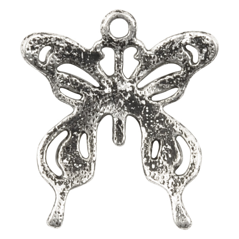 Casting Pendant-23mm Butterfly-Antique Silver-Quantity 1