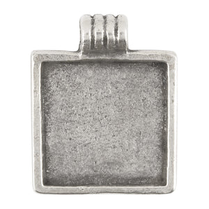 Casting Pendant-23x29mm Bezel-Antique Silver
