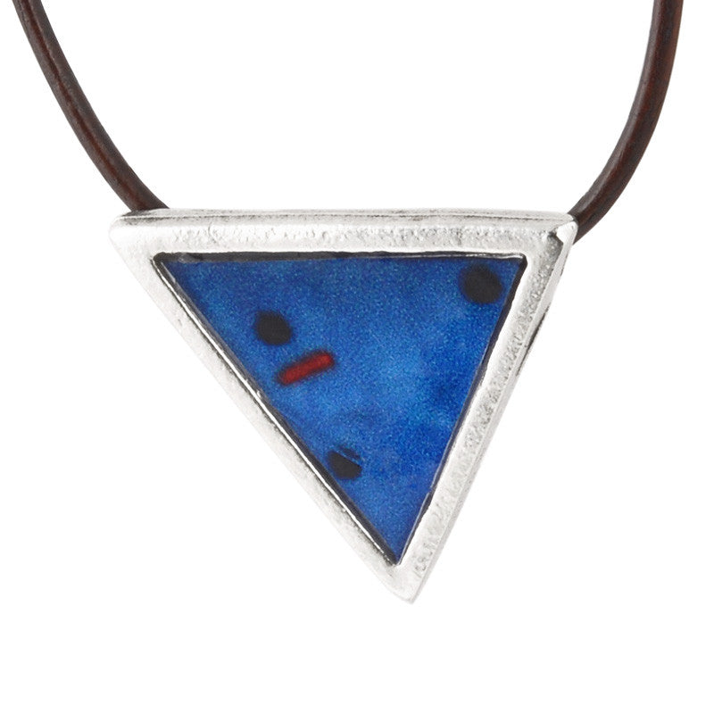 Casting Pendant-30mm Modern Blue Abstract