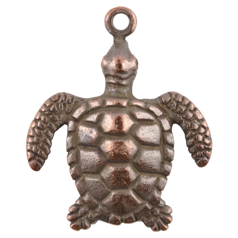 Casting Pendant-30x40mm Sea Turtle-Antique Copper