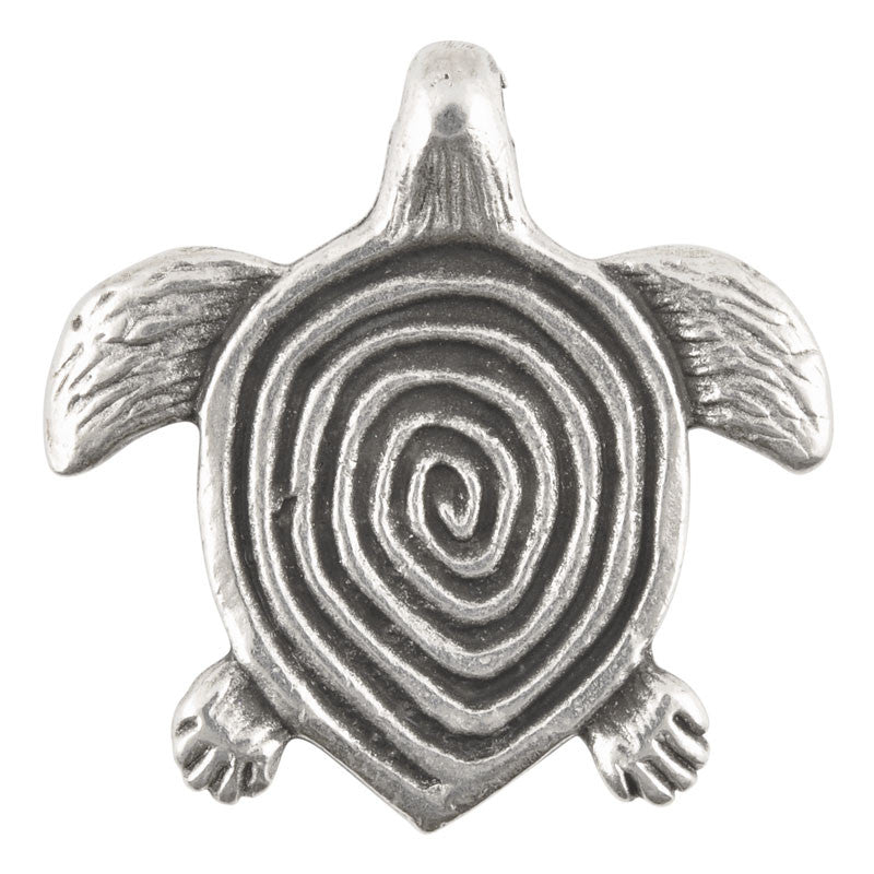 Casting Pendant-31x32mm Ornate Turtle-Antique Silver