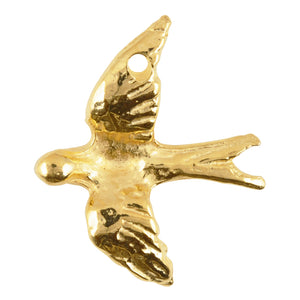 Casting Pendant-35x30mm Flying Dove-Gold
