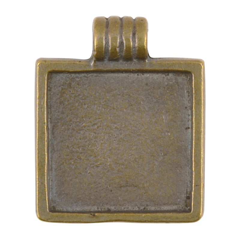 Casting Pendant-23x29mm Bezel-Antique Bronze