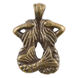 Casting Pendant-17x22mm Two Mermaids-Antique Bronze-Quantity 1