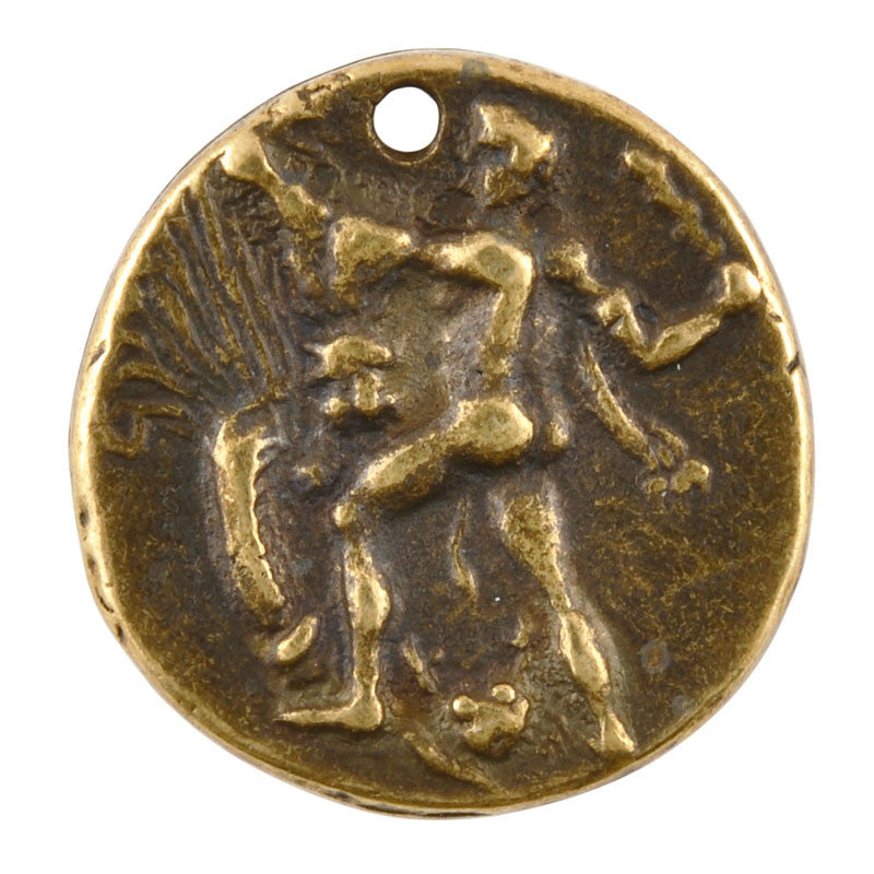 Casting-24mm Coin-Pendant-Antique Bronze
