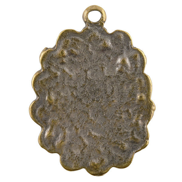 Castings-25x34mm Floral Bezel-Antique Bronze
