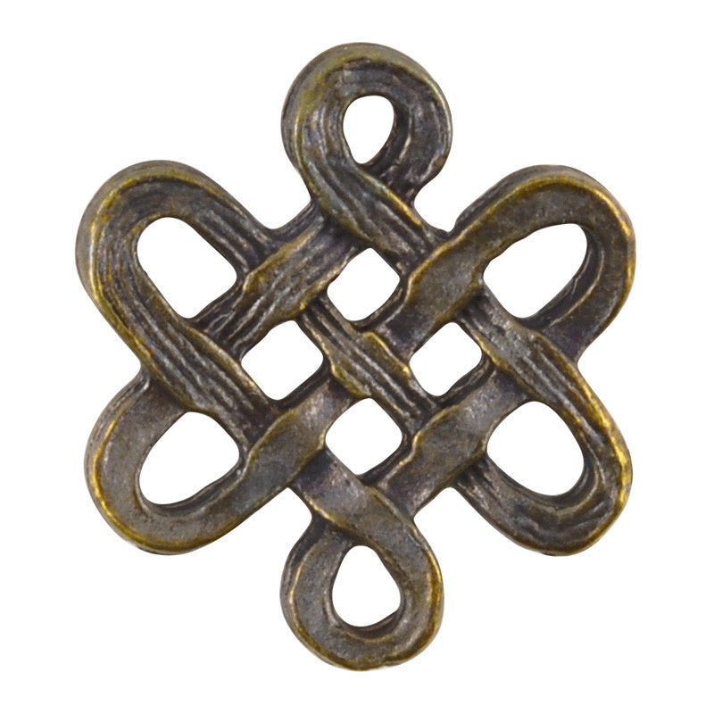 Casting Connector-15x16mm Endless Knot-Antique Bronze