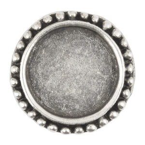 Castings-24mm Round Bezel with Dot Border