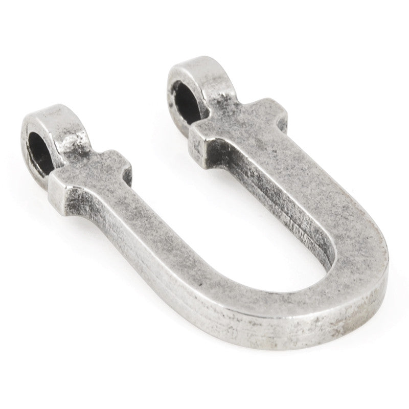 "Casting-19x28mm Letter ""U""-Antique Silver"