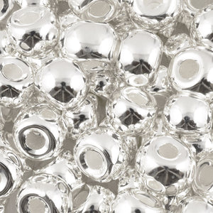 Ceramic Beads-10mm Rondelle Shaped-Silver