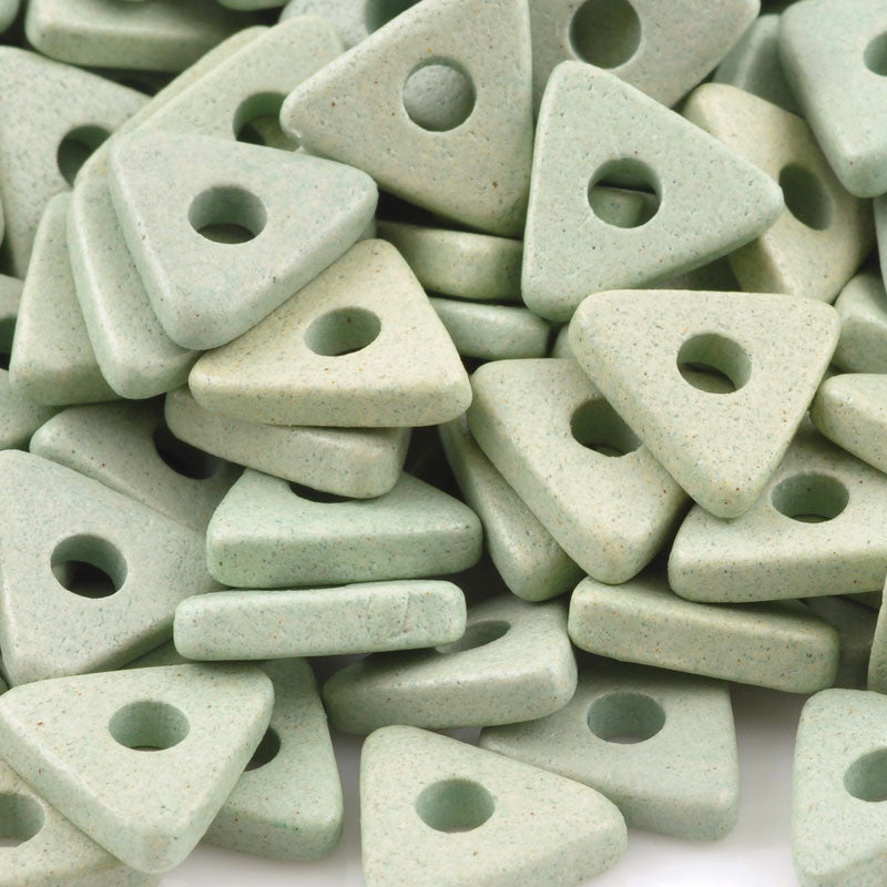 Ceramic Beads-10mm Triangle Disc-Celadon
