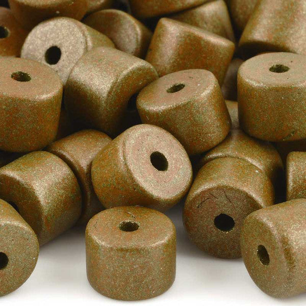 Ceramic Beads-10x13mm Round Tube-Patina