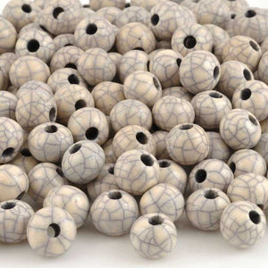 Ceramic Beads-12mm Round-Antique Violet-Quantity 5