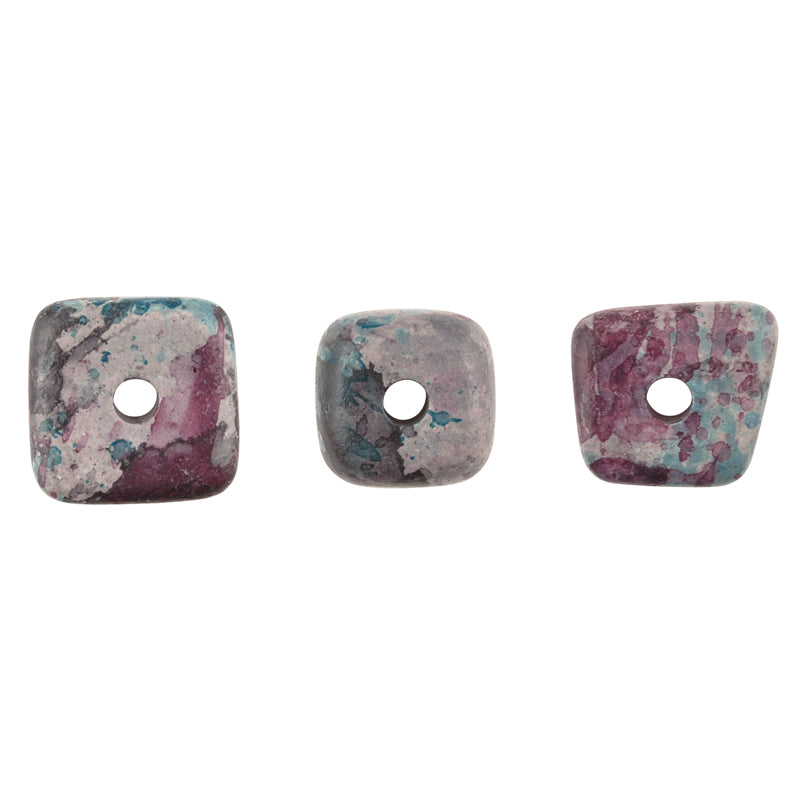 Ceramic Beads-14mm Abstract-Blue Violet Splash-Quantity 5