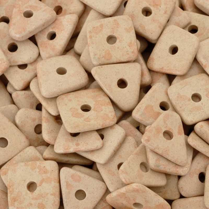 Ceramic Beads-14mm Abstract-Blush Tint-Quantity 10