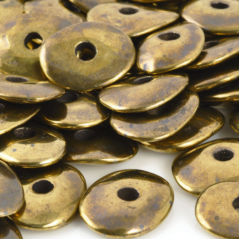 Ceramic Beads-16mm Donut-Antique Bronze
