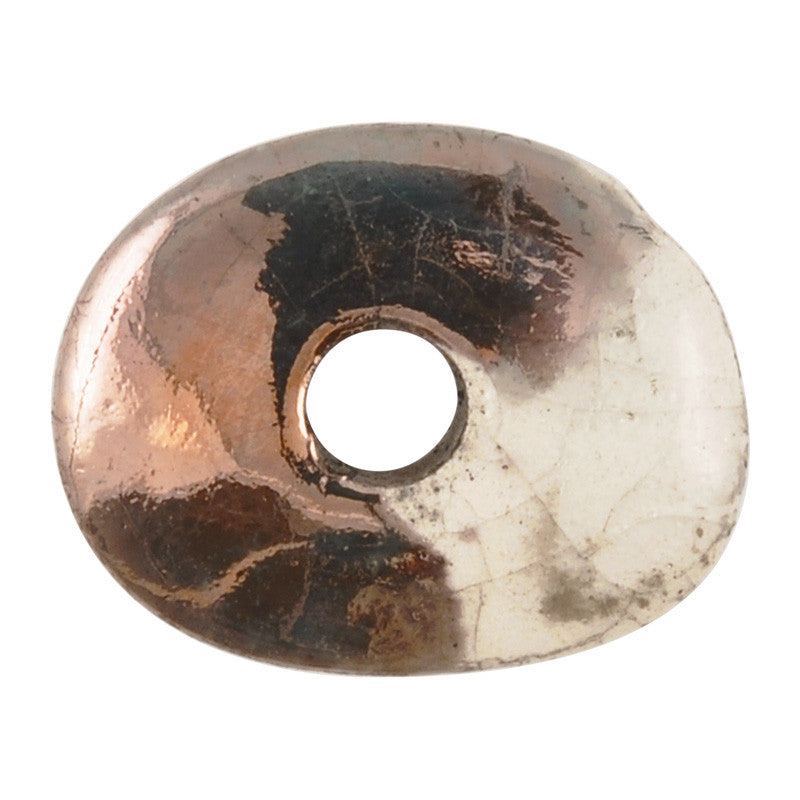 Ceramic Beads-16mm Donut-Raku Copper