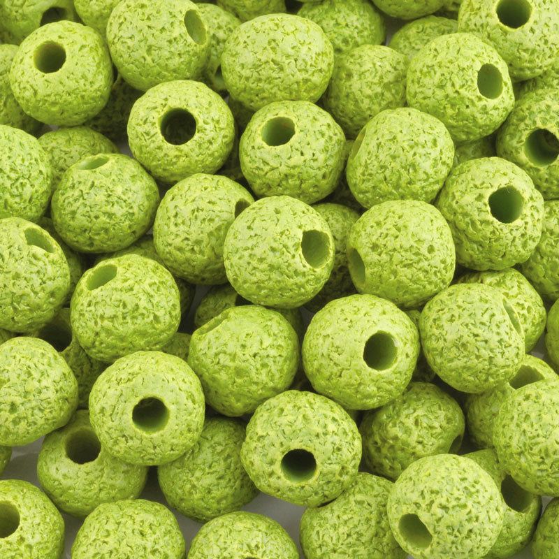 Ceramic Beads-16mm Coarse Round-Chartreuse